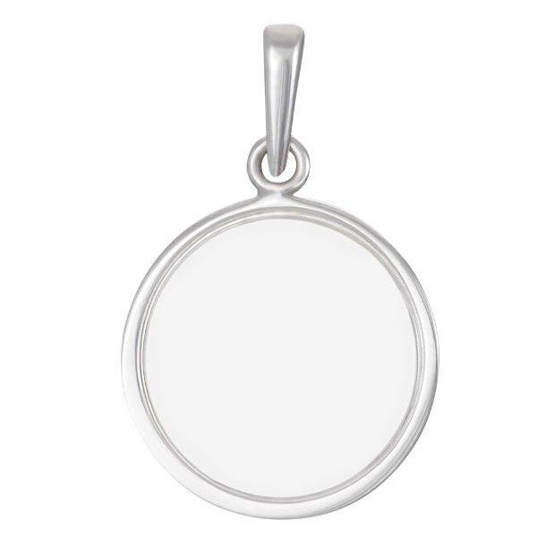 Rhodineret sølv plade vedhæng