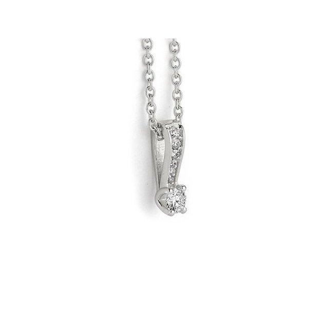 14 karat hvidgulds vedhæng med diamanter