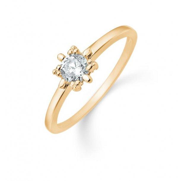 Snefnug guld ring