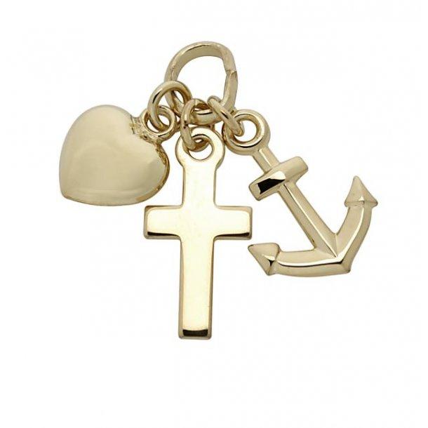 14 karat guld tro, håb og kærlighed
