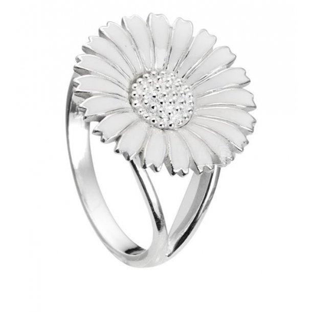 Sølv marguerit ring