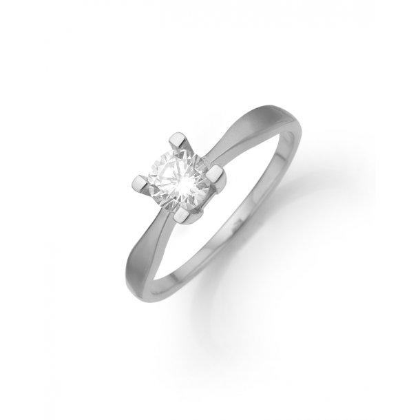 14 karat hvidguld eternity ring med 0,05 carat