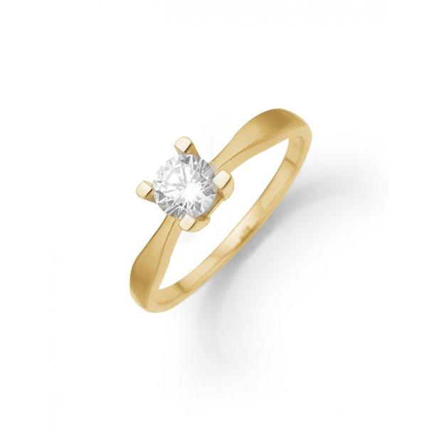 Diamant ring i 8 karat