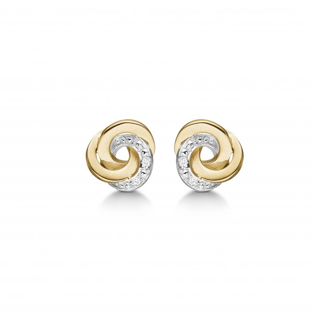 Knude øreringe med diamanter