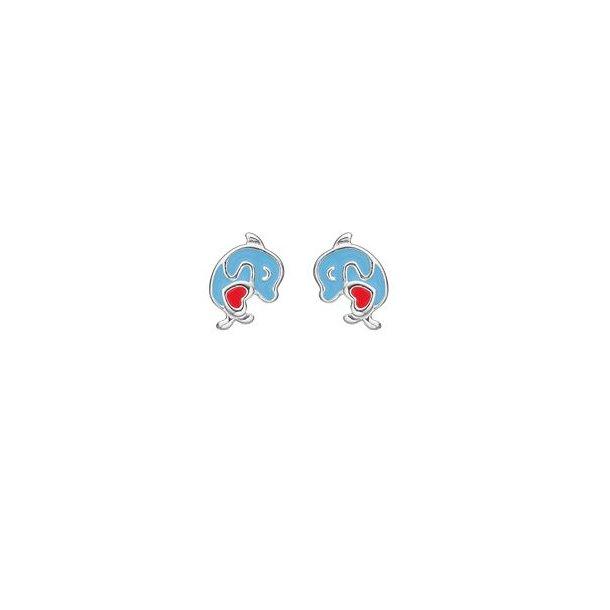 Blå delfin øreringe