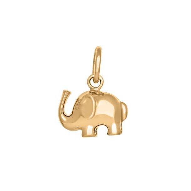 8 karat guld elefant charm