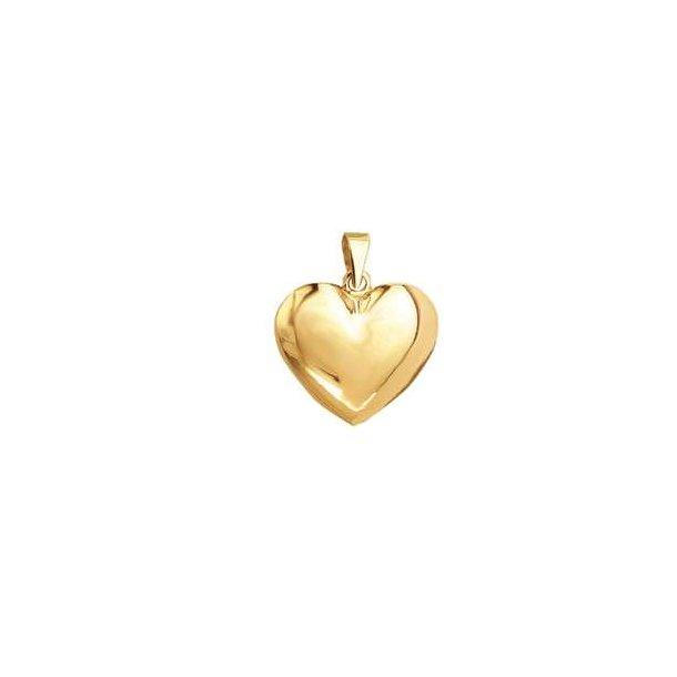 8 karat hjerte vedhæng