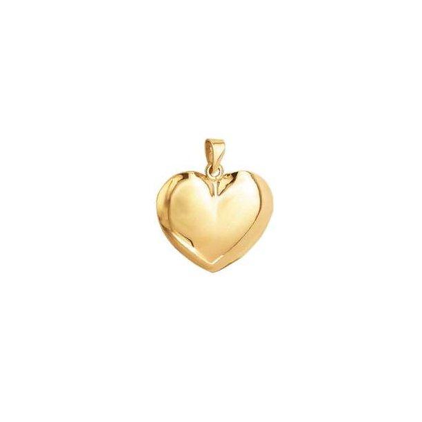 8 kt. stort hjerte vedhæng