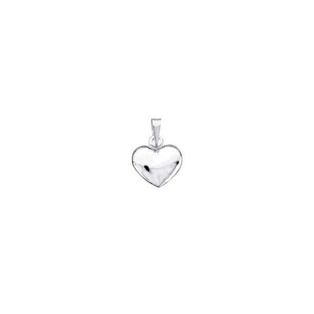Sølv hjerte vedhæng