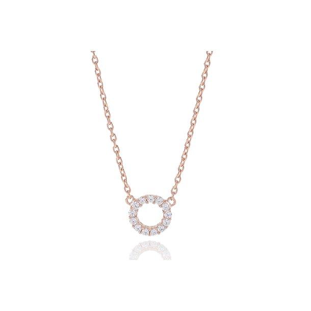 Sif Jakobs rosa forgyldt sølv halskæde
