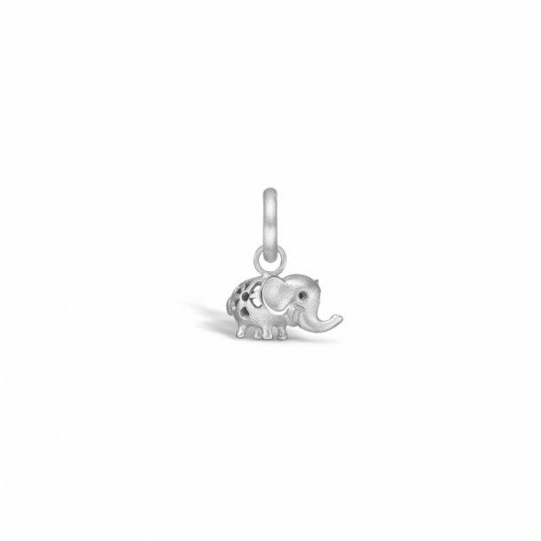 Rhodineret sølv mini elefant
